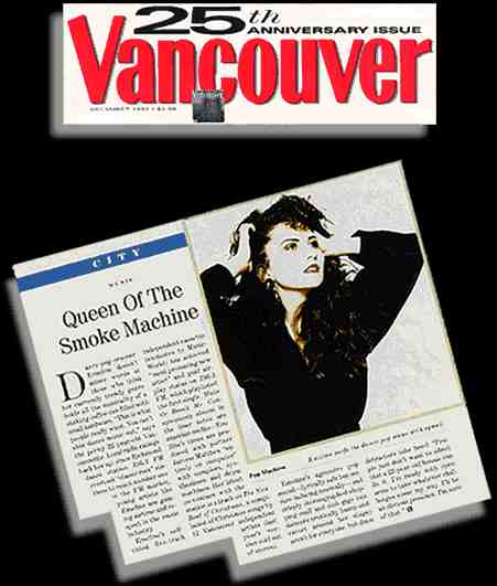 Emeline in Vancouver magazine (edited scan from original)
